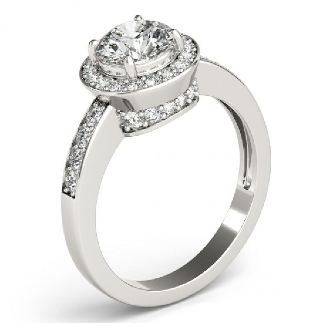 1.2 CTW Certified VS/SI Diamond Solitaire Halo Ring 14K - 3