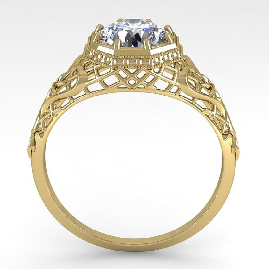 1.50 CTW VS/SI Diamond Solitaire Ring 14K Yellow Gold - 2