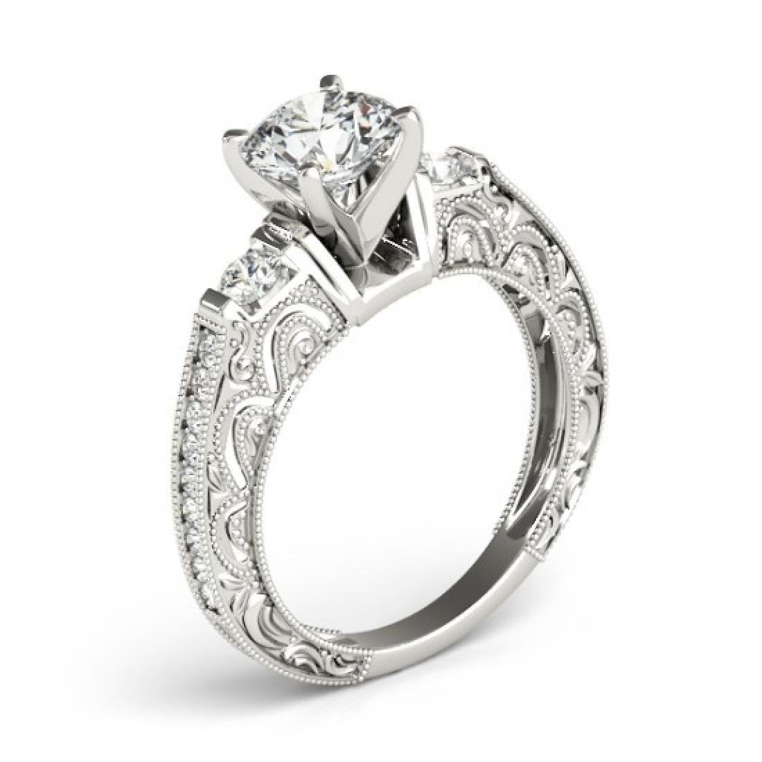 1.38 CTW Certified VS/SI Diamond Solitaire Antique Ring - 3