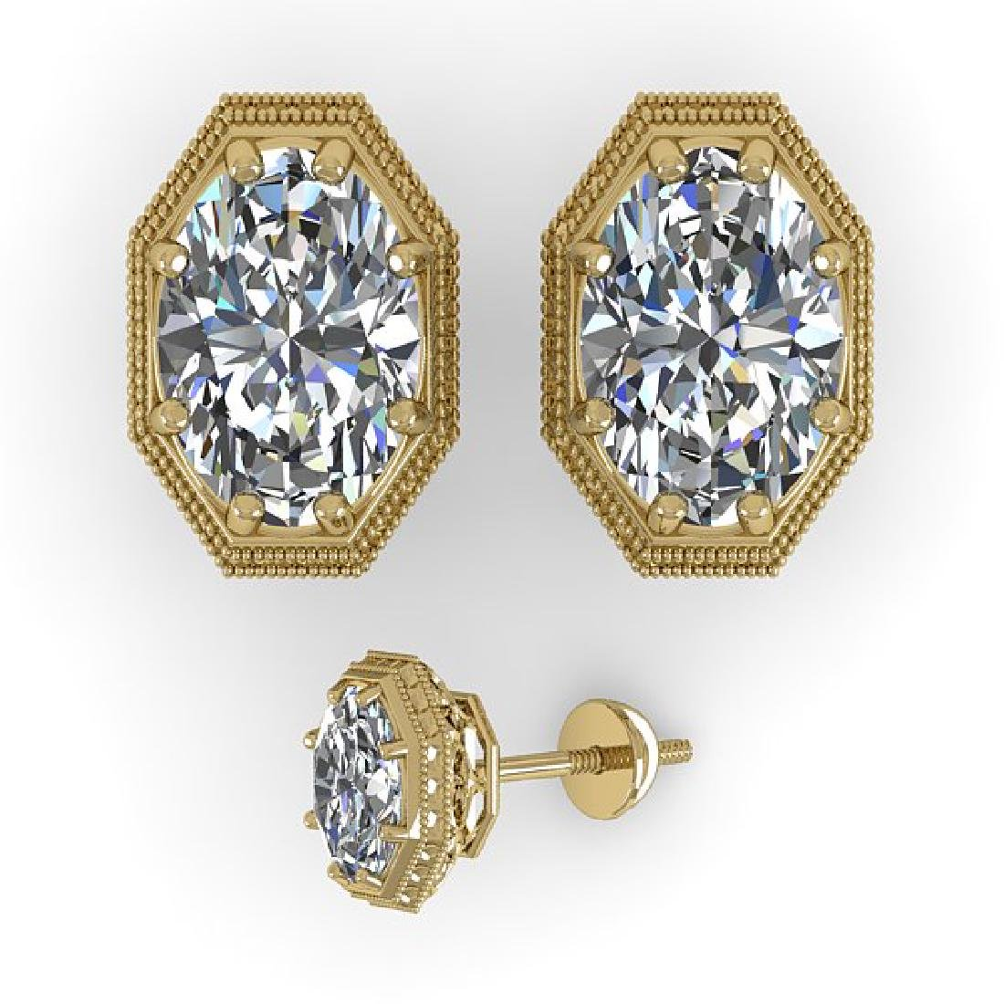 1.0 CTW VS/SI Oval Cut Diamond Stud Solitaire Earrings - 2