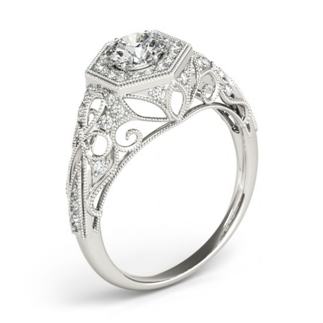 1.15 CTW Certified VS/SI Diamond Solitaire Halo Ring - 3