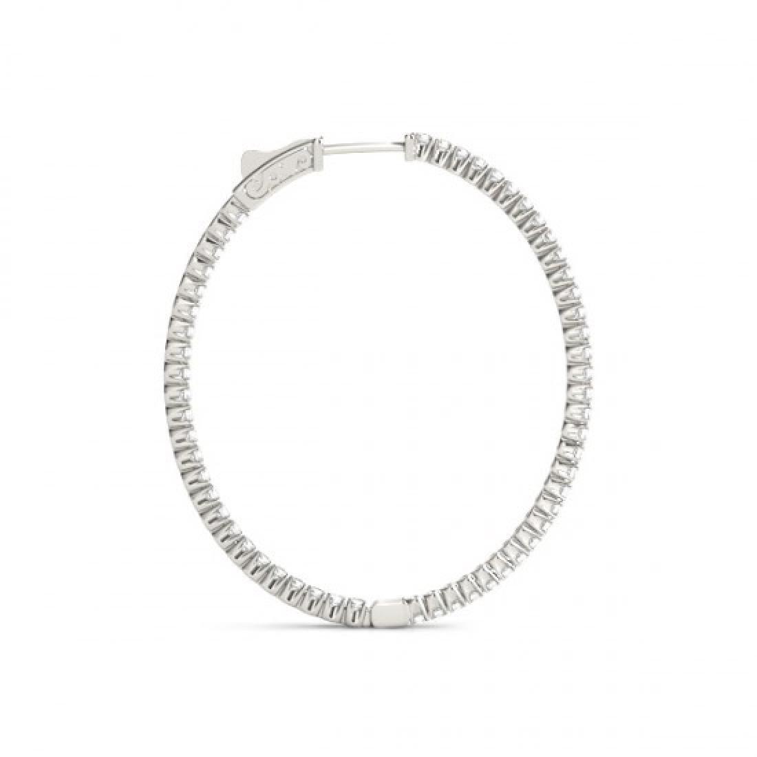 5.25 CTW Diamond VS/SI Certified 45 Mm Hoop Earrings - 3