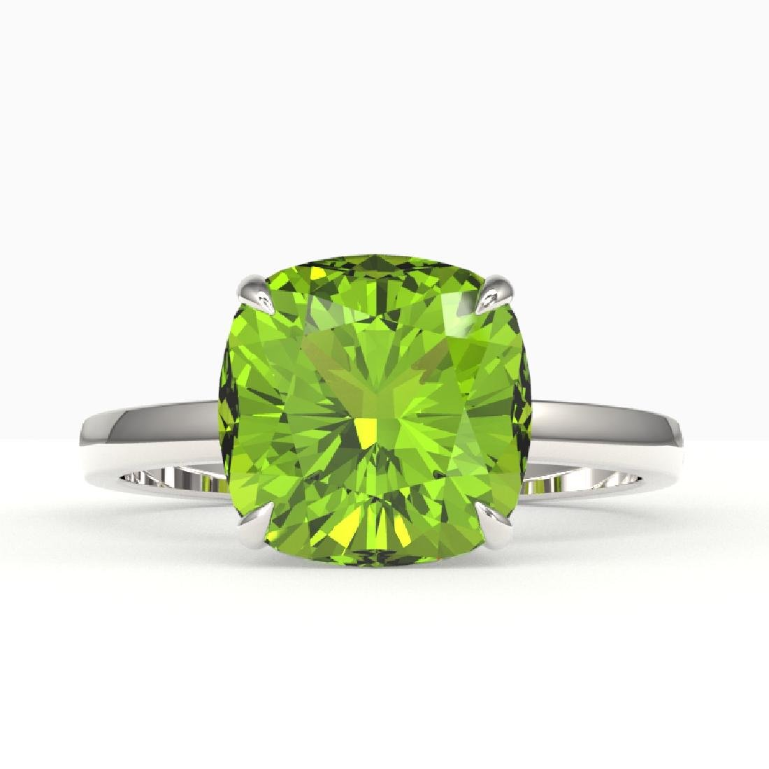 6 CTW Cushion Cut Peridot Designer Inspired Solitaire