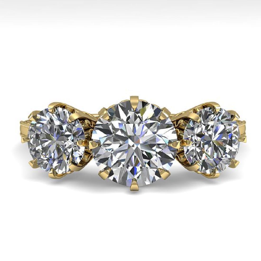 2 CTW Certified VS/SI Diamond Vintage Ring 14K Yellow