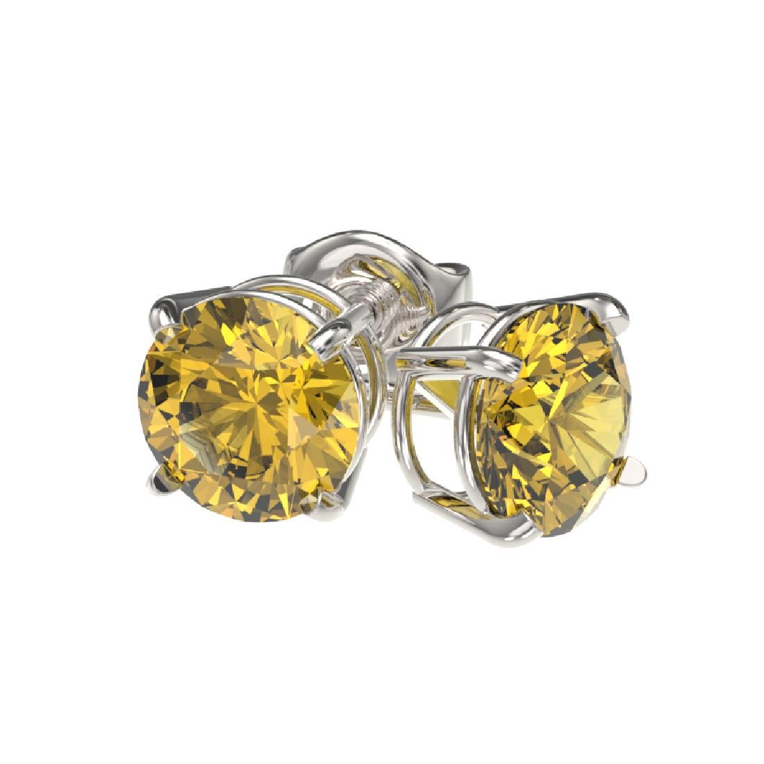 1.08 CTW Certified Intense Yellow SI Diamond Solitaire - 3