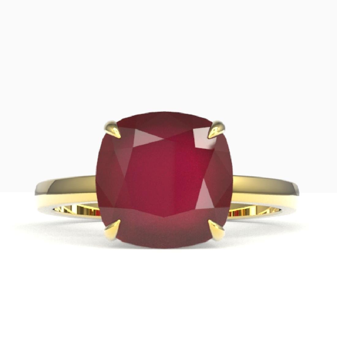 6 CTW Ruby Designer Inspired Solitaire Engagement Ring