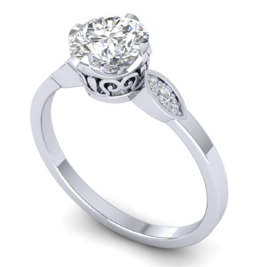 1.05 CTW Certified VS/SI Diamond Solitaire Art Deco - 2