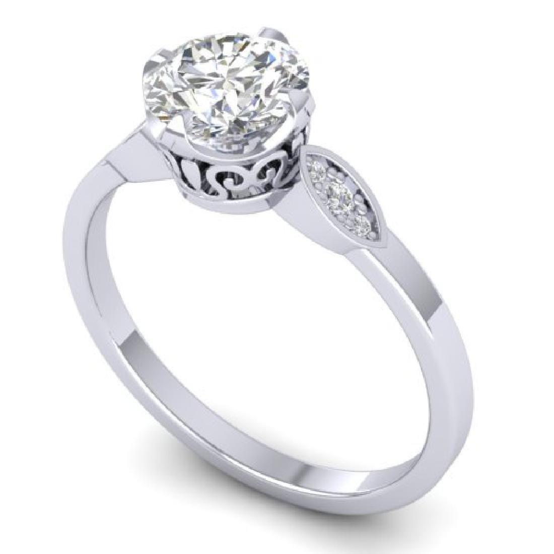 1.05 CTW Certified VS/SI Diamond Solitaire Art Deco - 2