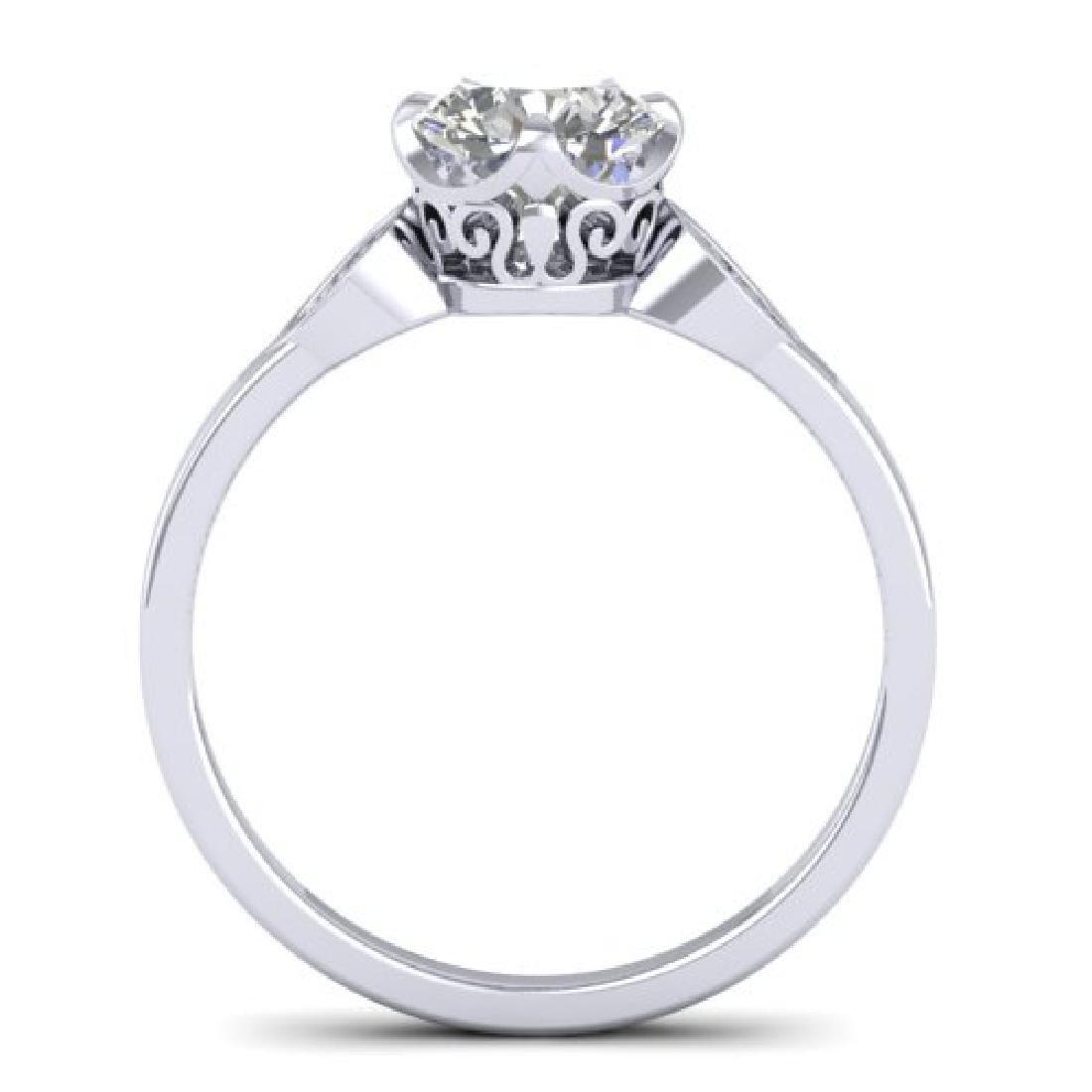1.05 CTW Certified VS/SI Diamond Solitaire Art Deco - 3