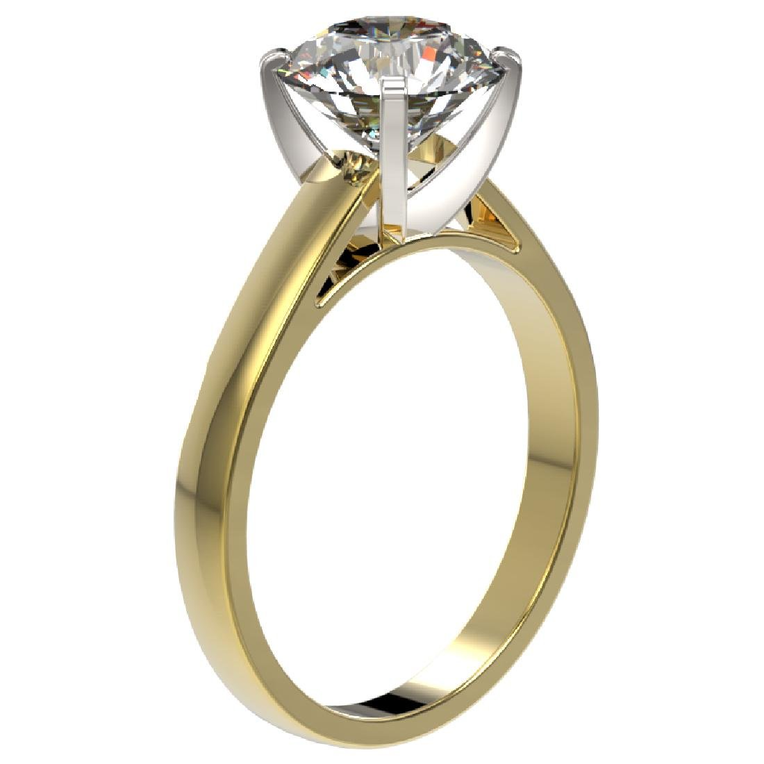 2.55 CTW Certified H-SI/I Quality Diamond Solitaire - 3