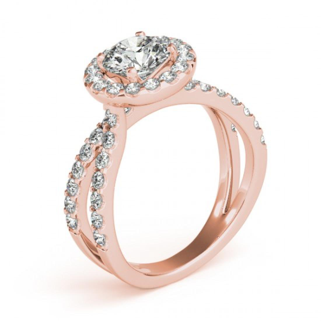 1.51 CTW Certified VS/SI Diamond Solitaire Halo Ring - 3