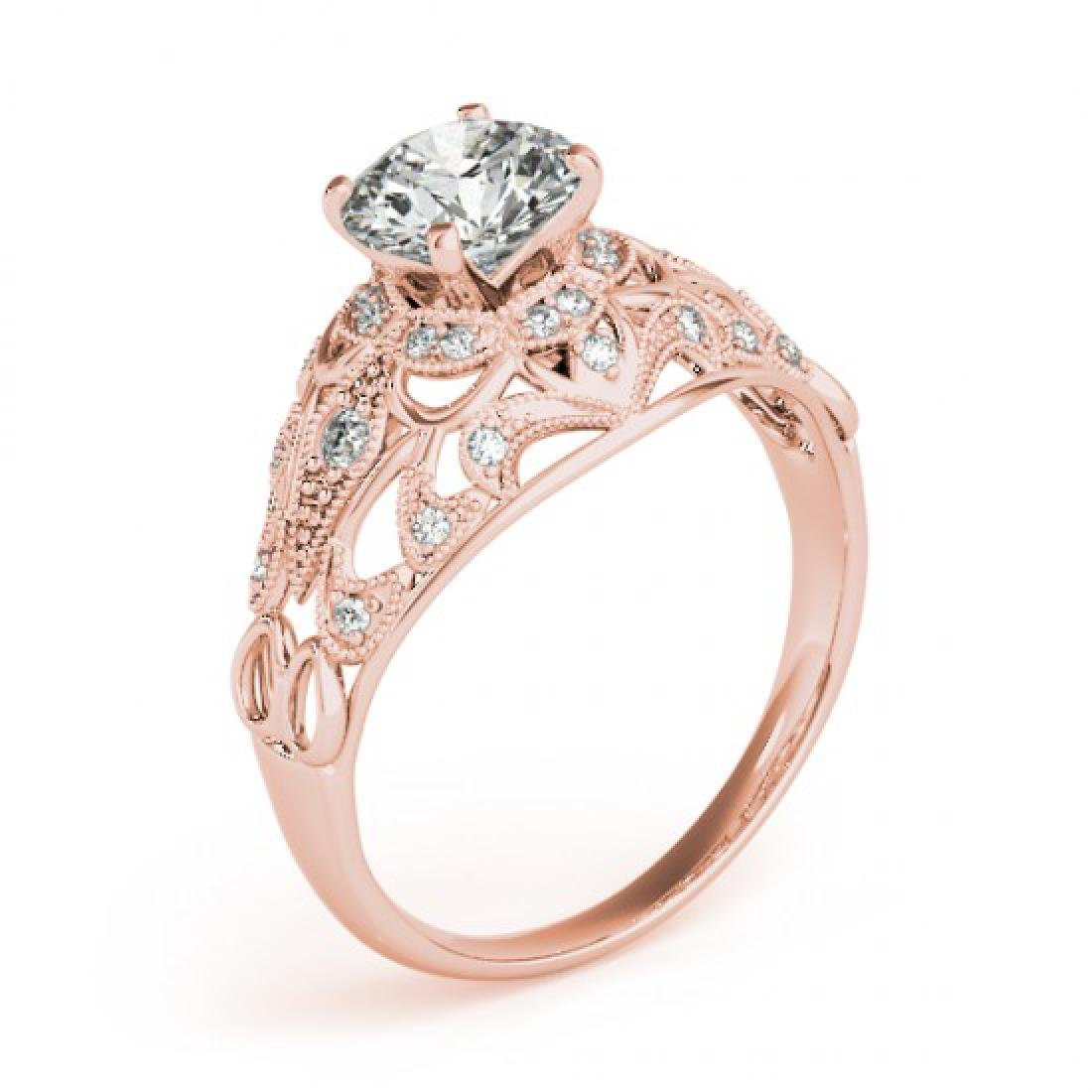 1.36 CTW Certified VS/SI Diamond Solitaire Antique Ring - 3