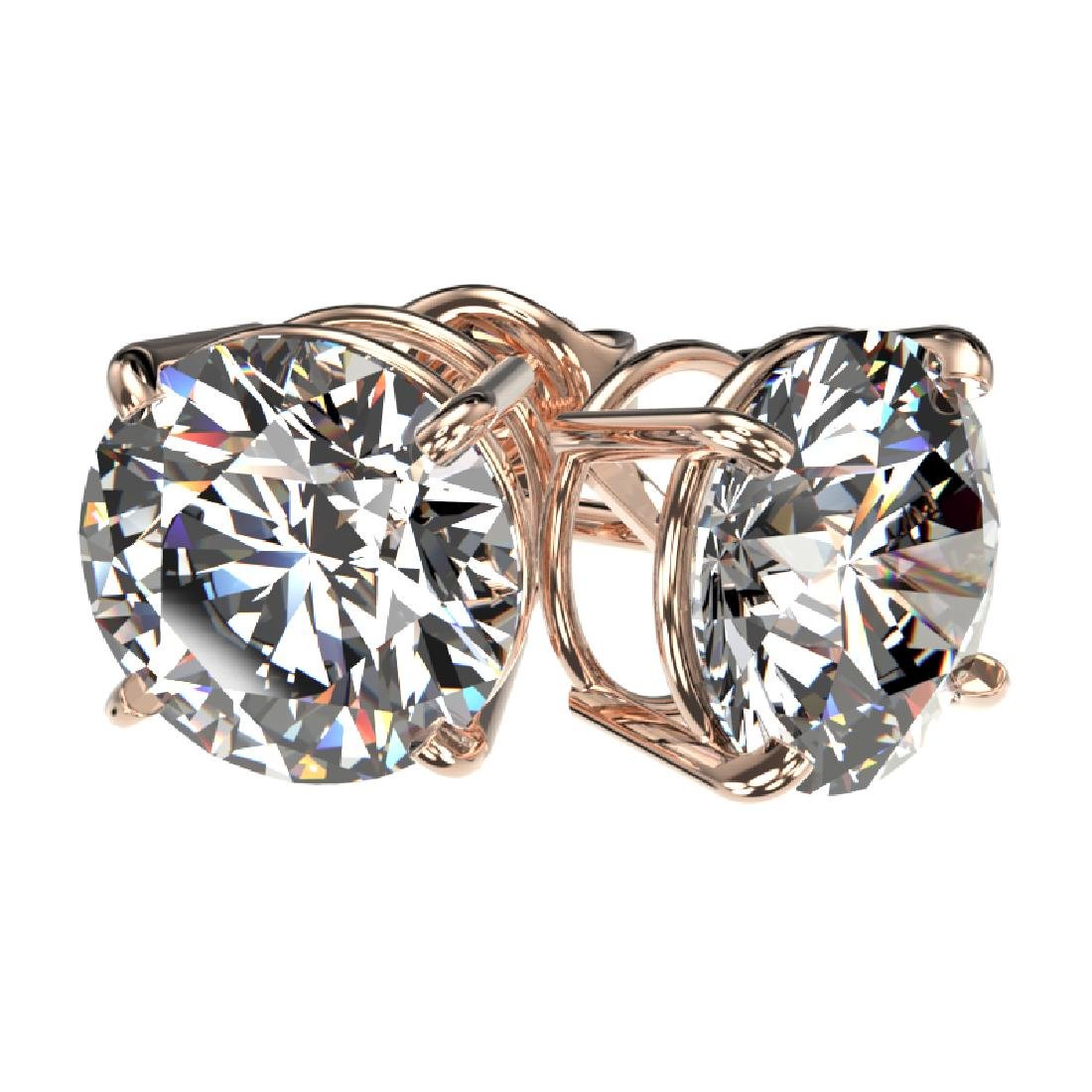 3 CTW Certified H-SI/I Quality Diamond Solitaire Stud - 3