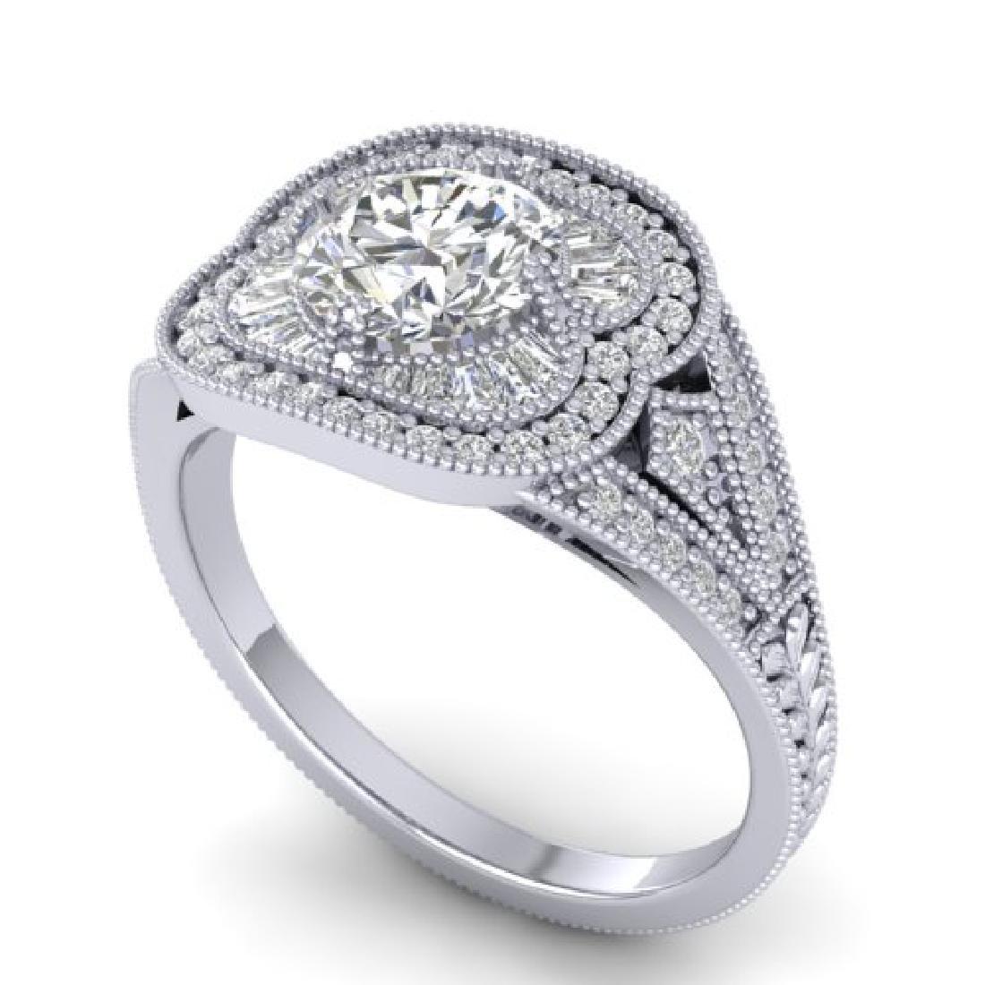 1.95 CTW Certified VS/SI Diamond Art Deco Micro Ring - 2