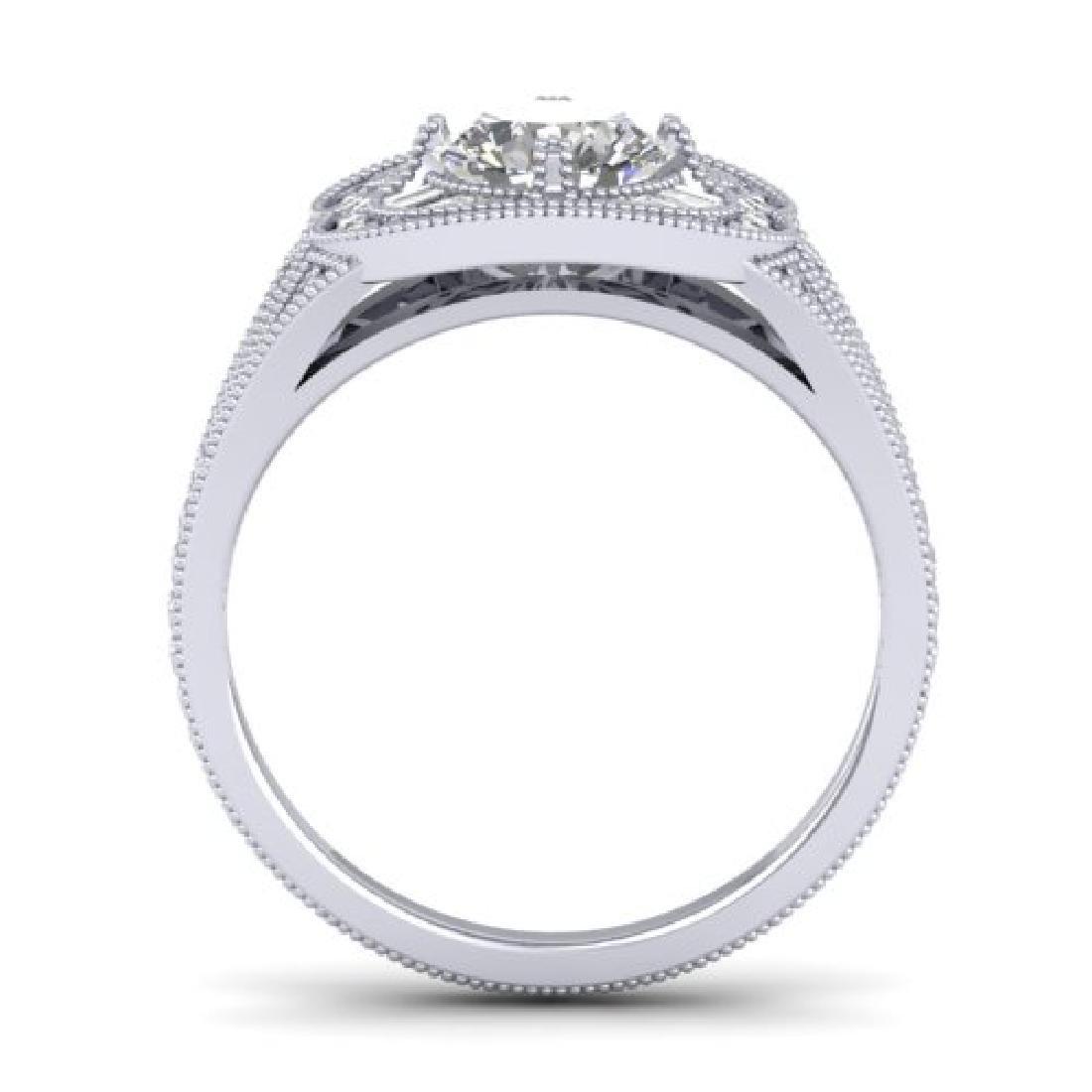 1.95 CTW Certified VS/SI Diamond Art Deco Micro Ring - 3