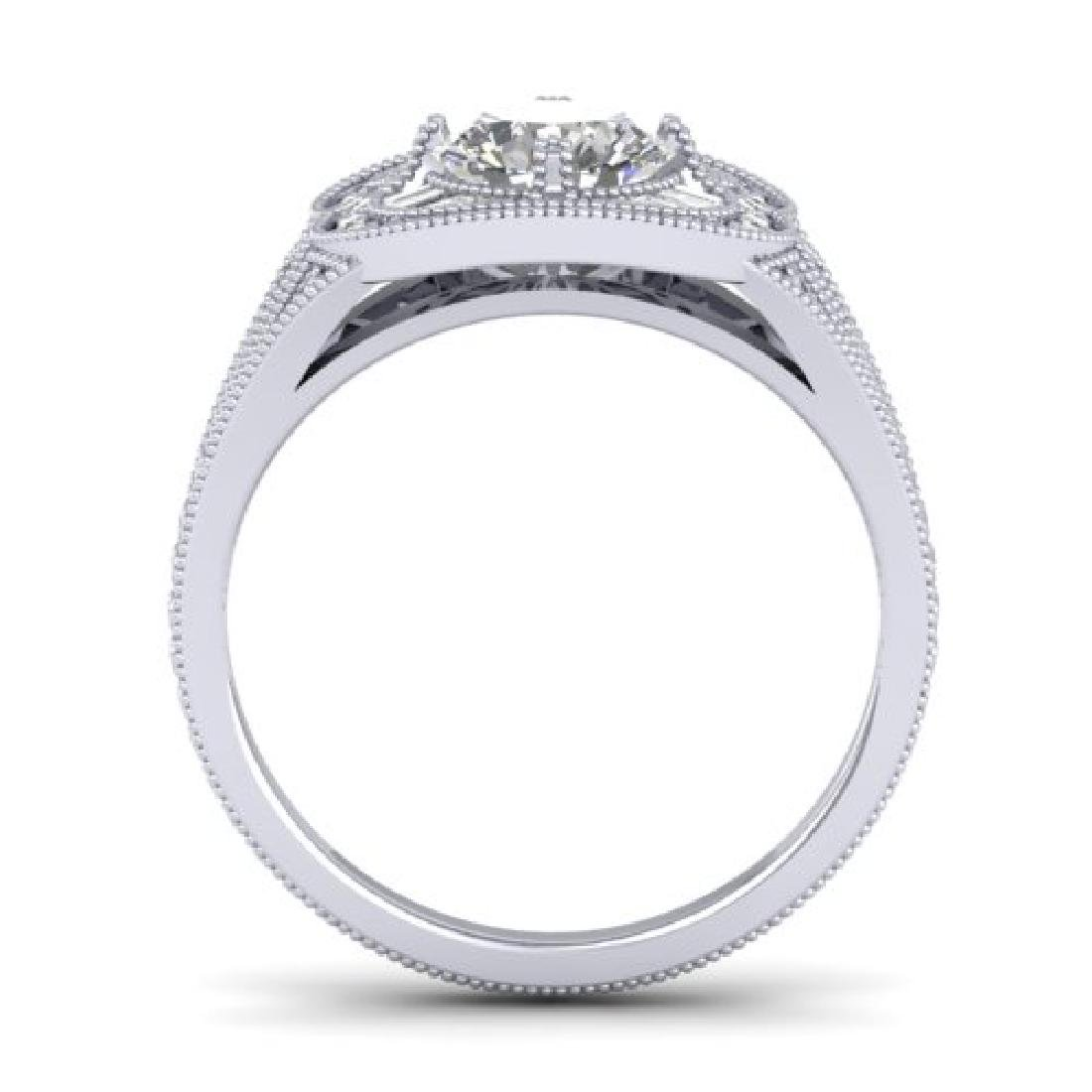 1.95 CTW Certified VS/SI Diamond Art Deco Micro Ring - 3