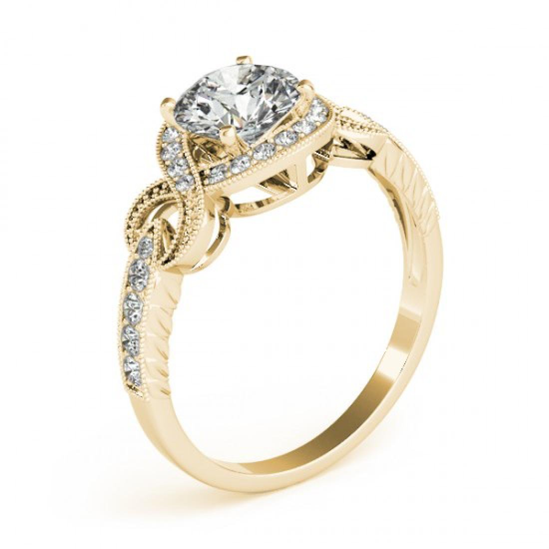 0.8 CTW Certified VS/SI Diamond Solitaire Halo Ring 14K - 3