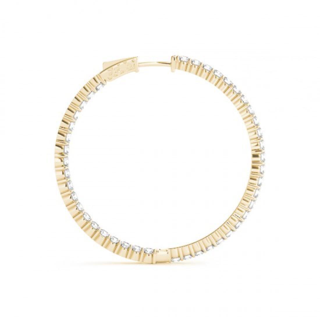 5.5 CTW Diamond VS/SI Certified 45 Mm Hoop Earrings 14K - 3