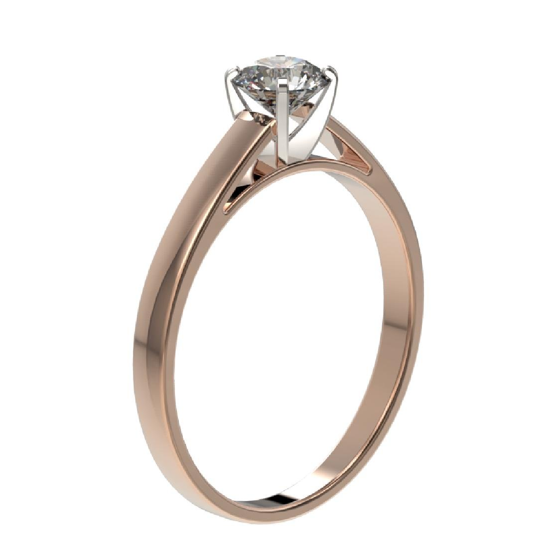 0.53 CTW Certified H-SI/I Quality Diamond Solitaire - 3