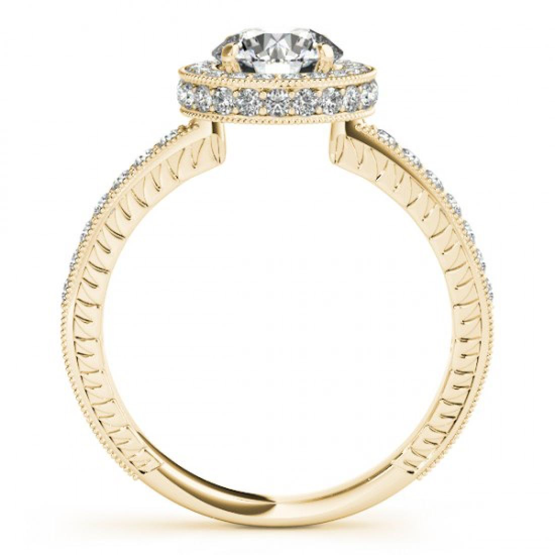 1.51 CTW Certified VS/SI Diamond Solitaire Halo Ring - 2