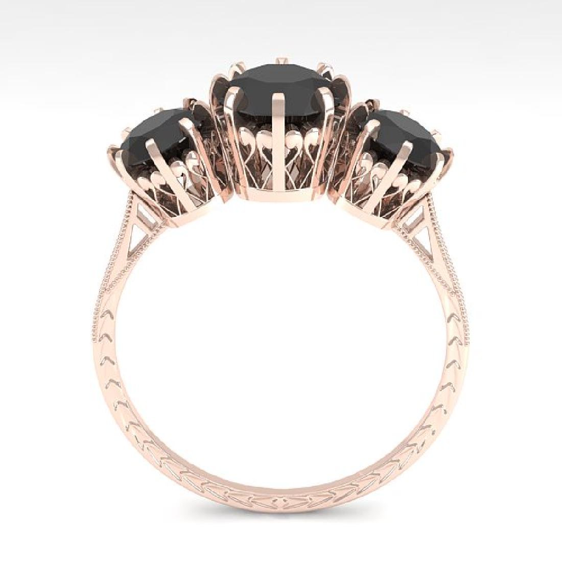 2 CTW Black Diamond Ring 14K Rose Gold - 3