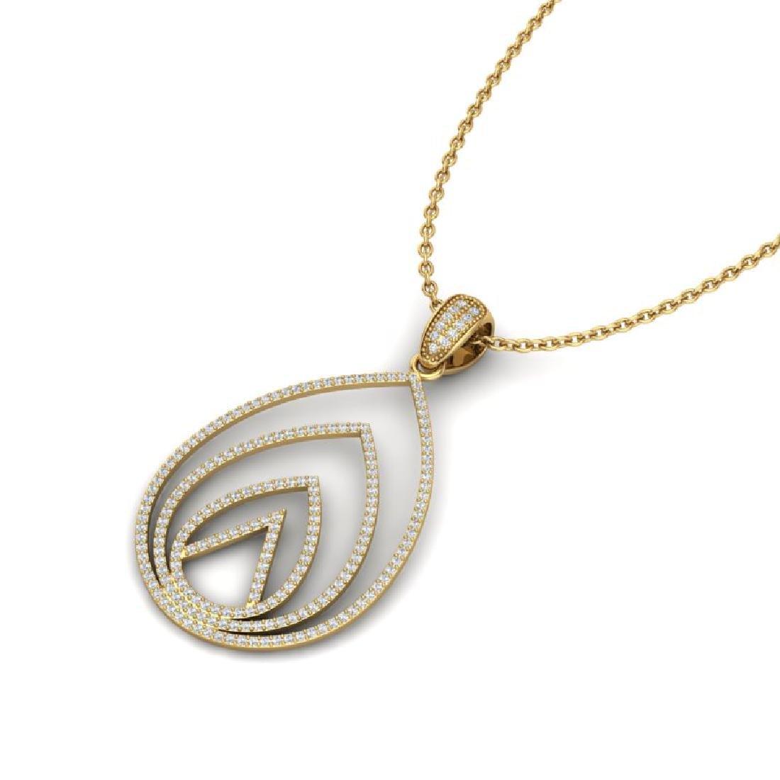 1.25 CTW Micro Pave VS/SI Diamond Designer Necklace 18K