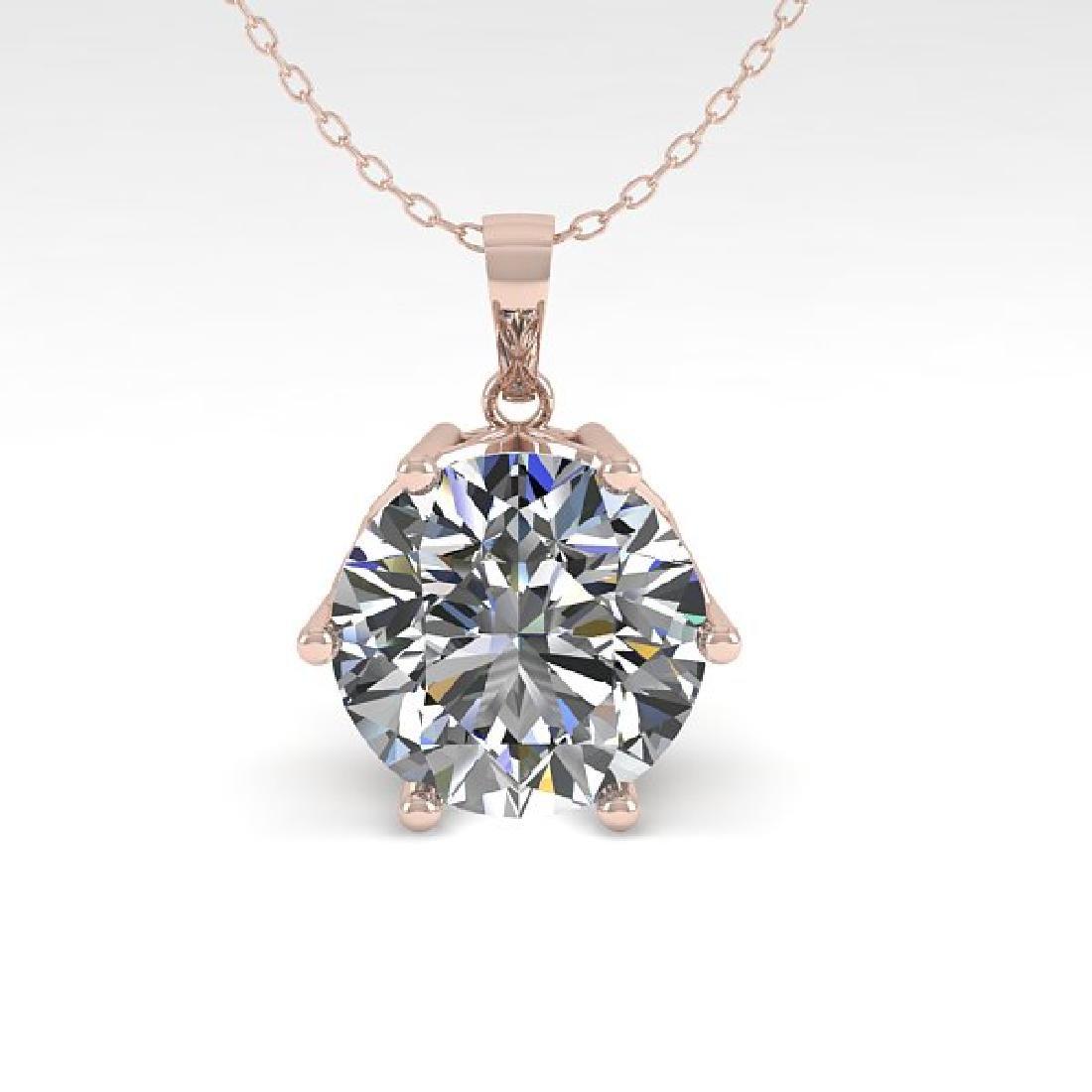 1 CTW Certified VS/SI Diamond Art Deco Necklace 14K - 2