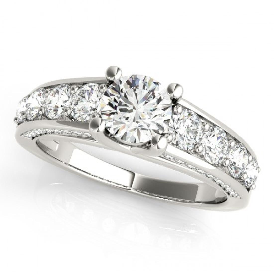 3.05 CTW Certified VS/SI Diamond Solitaire Ring 14K