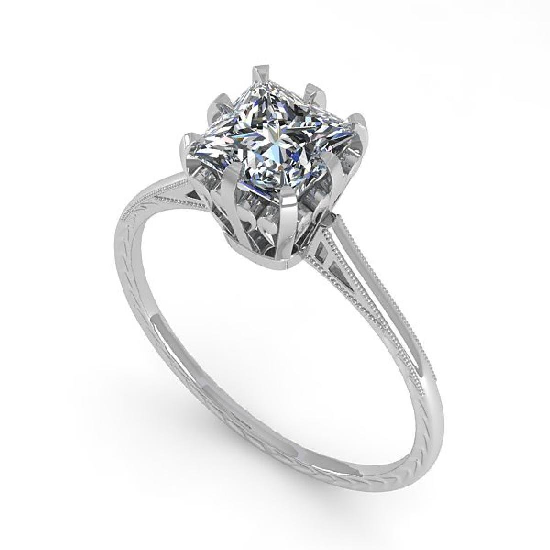 1.0 CTW VS/SI Princess Diamond Solitaire Ring 14K White - 2