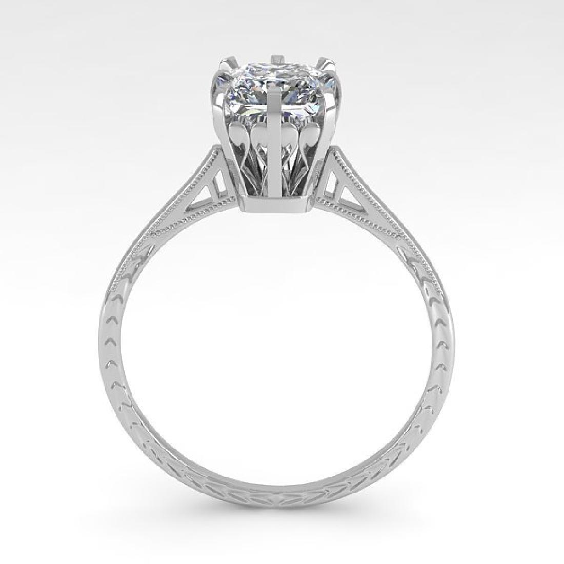 1.0 CTW VS/SI Princess Diamond Solitaire Ring 14K White - 3