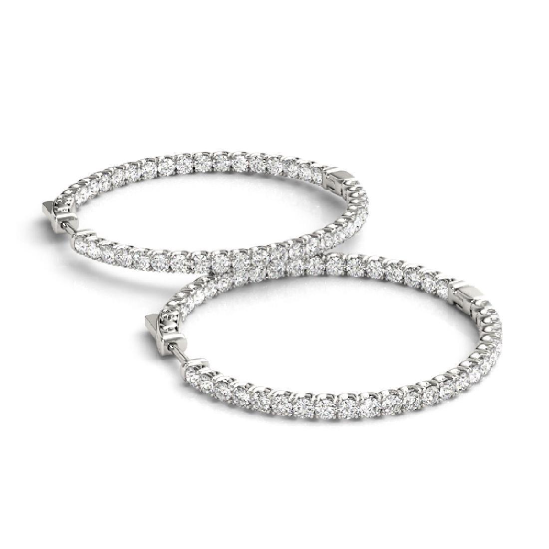 2 CTW Diamond VS/SI Certified 42 Mm Hoop Earrings 14K