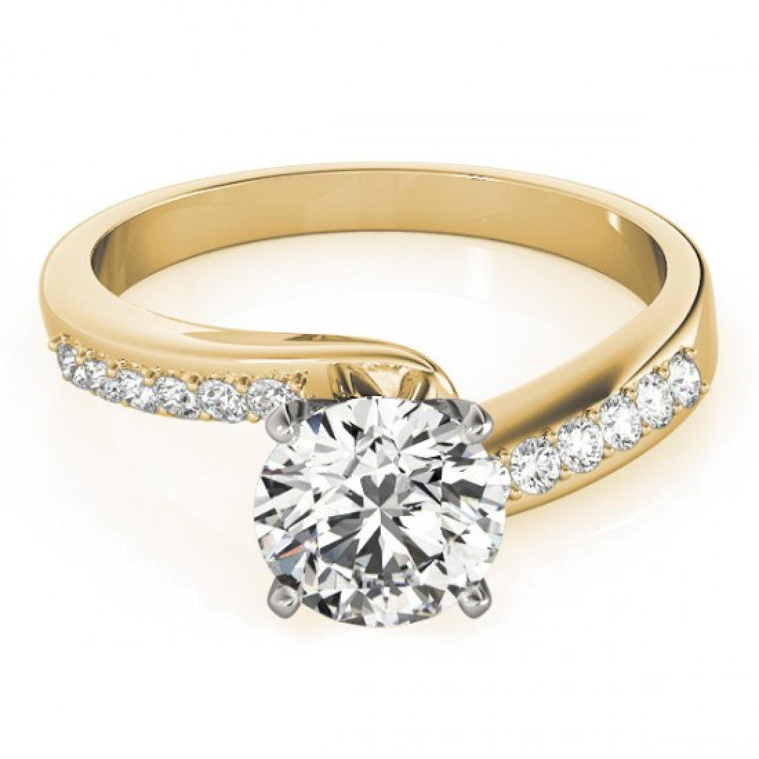 0.91 CTW Certified VS/SI Diamond Bypass Solitaire Ring