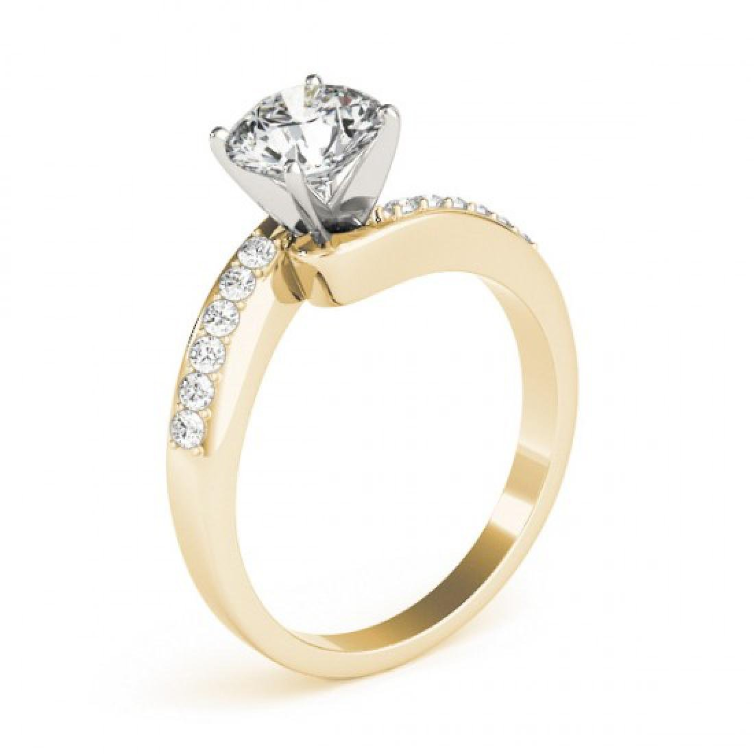 0.91 CTW Certified VS/SI Diamond Bypass Solitaire Ring - 3