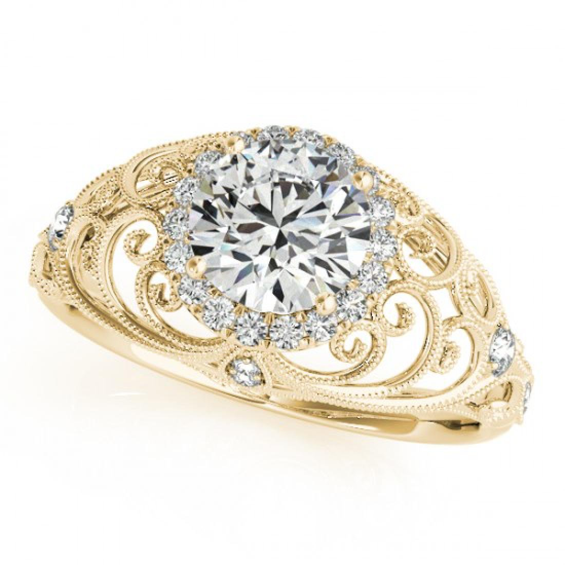 1.22 CTW Certified VS/SI Diamond Solitaire Halo Ring - 2