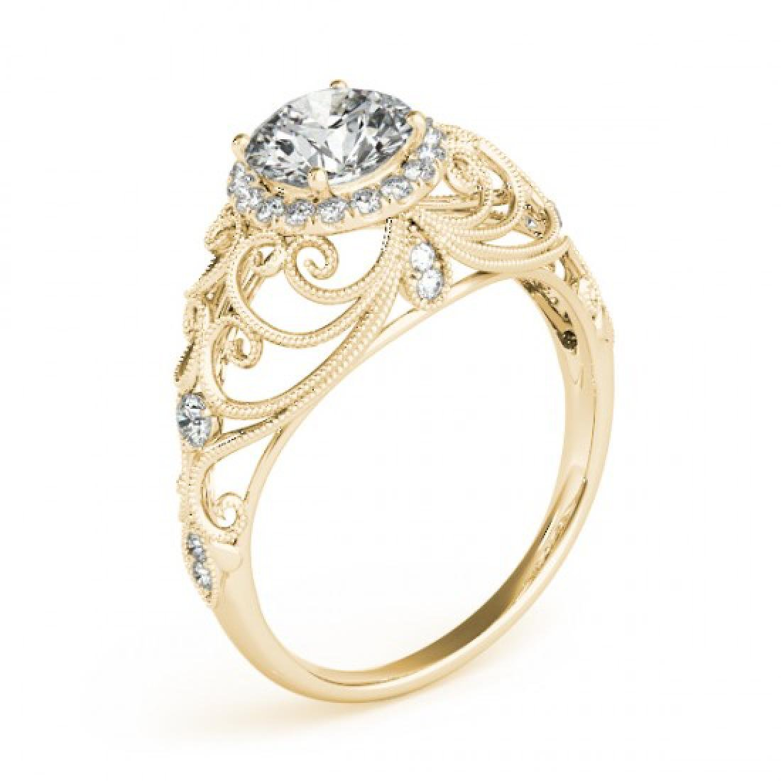 1.22 CTW Certified VS/SI Diamond Solitaire Halo Ring - 3