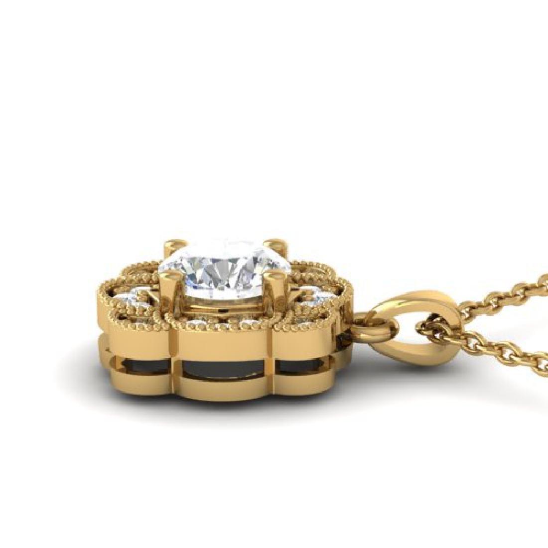 0.75 CTW I-SI Diamond Solitaire Art Deco Necklace 18K - 3