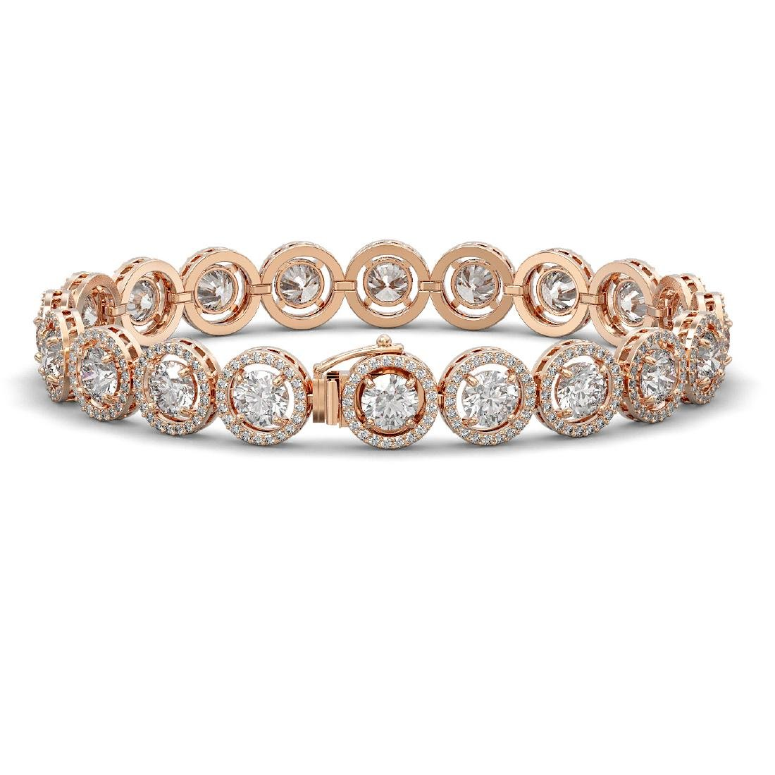 13.42 CTW Diamond Designer Bracelet 18K Rose Gold - 2