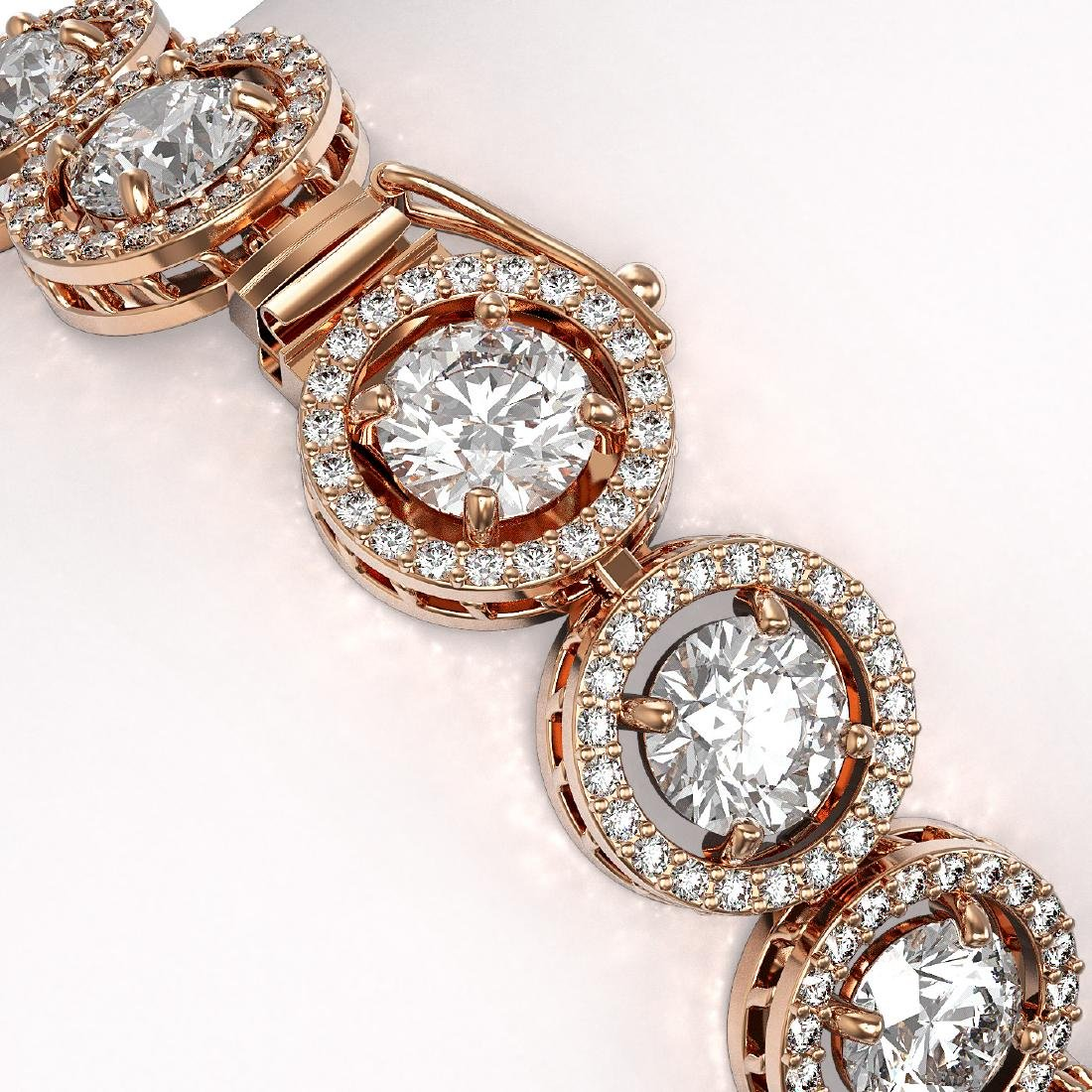 13.42 CTW Diamond Designer Bracelet 18K Rose Gold - 3