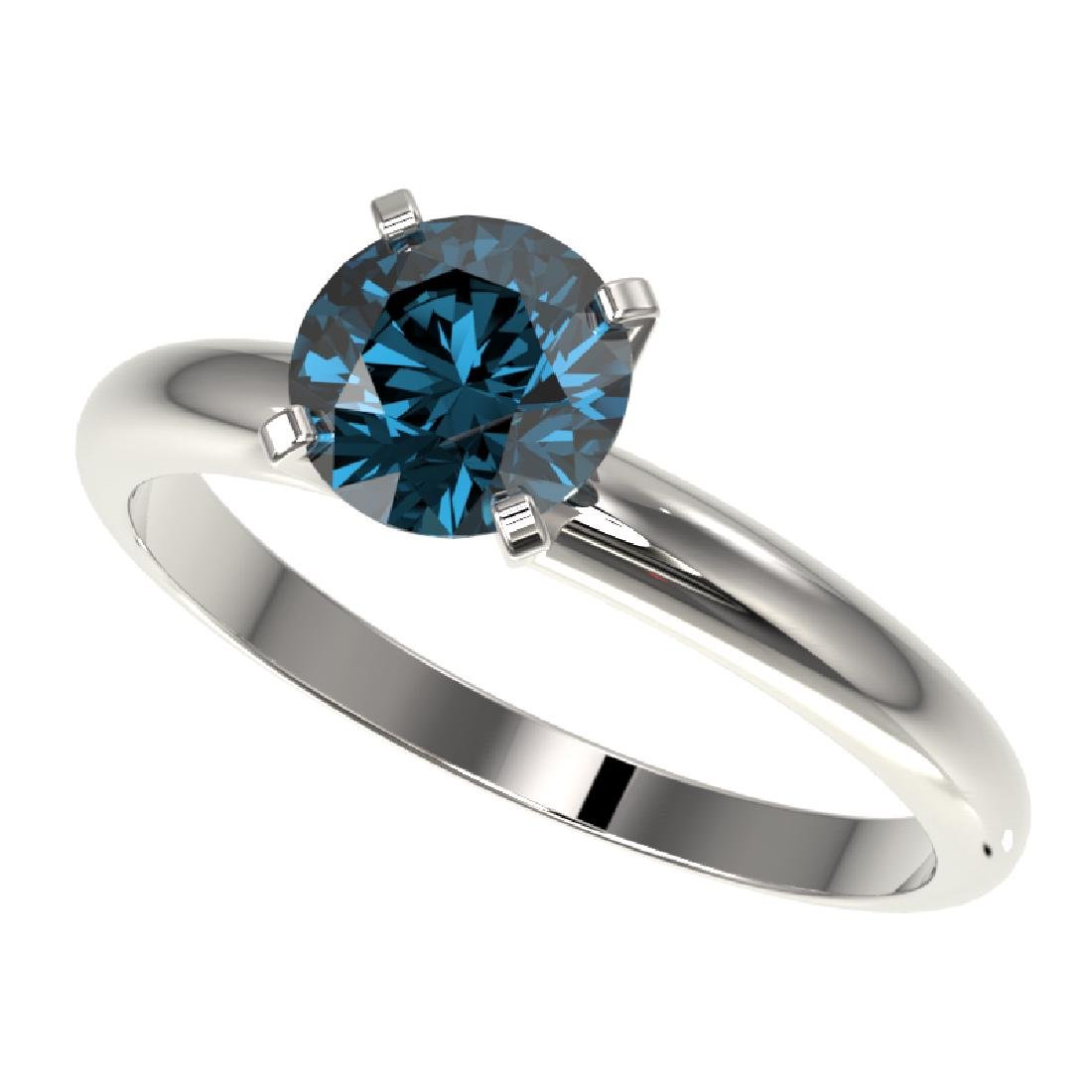 1.27 CTW Certified Intense Blue SI Diamond Solitaire