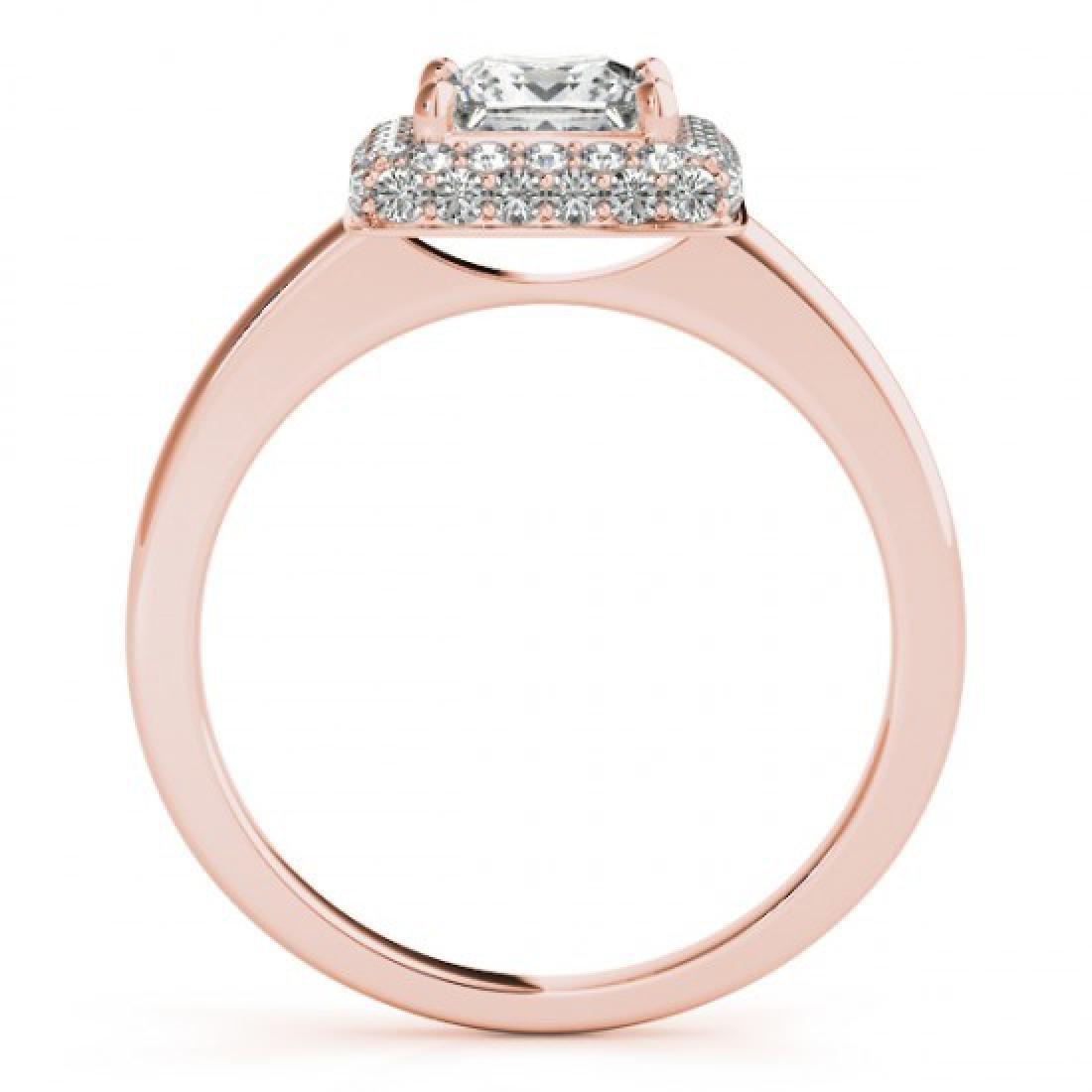 0.8 CTW Certified VS/SI Princess Diamond Solitaire Halo
