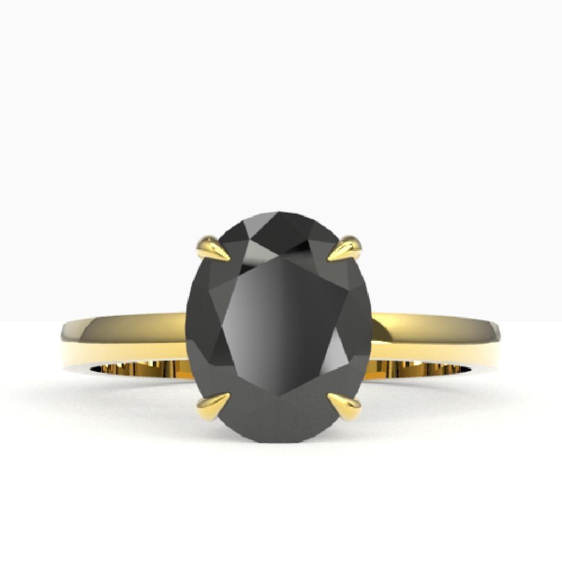 5 CTW Black VS/SI Diamond Designer Inspired Solitaire