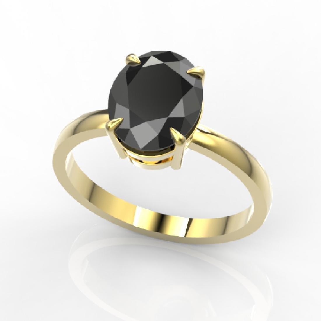 5 CTW Black VS/SI Diamond Designer Inspired Solitaire - 2