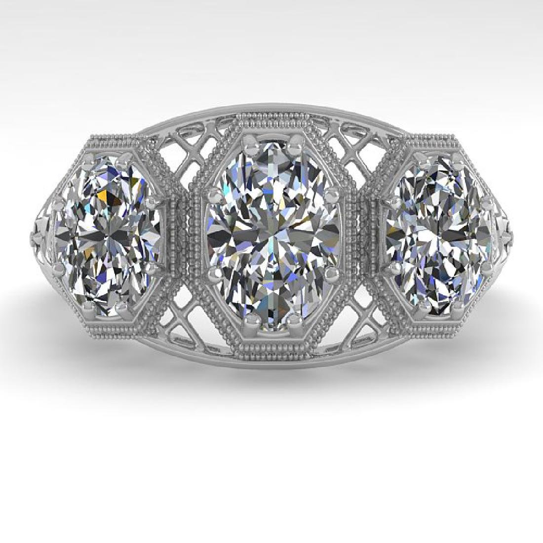 2 CTW VS/SI Oval Cut Diamond Ring 14K White Gold