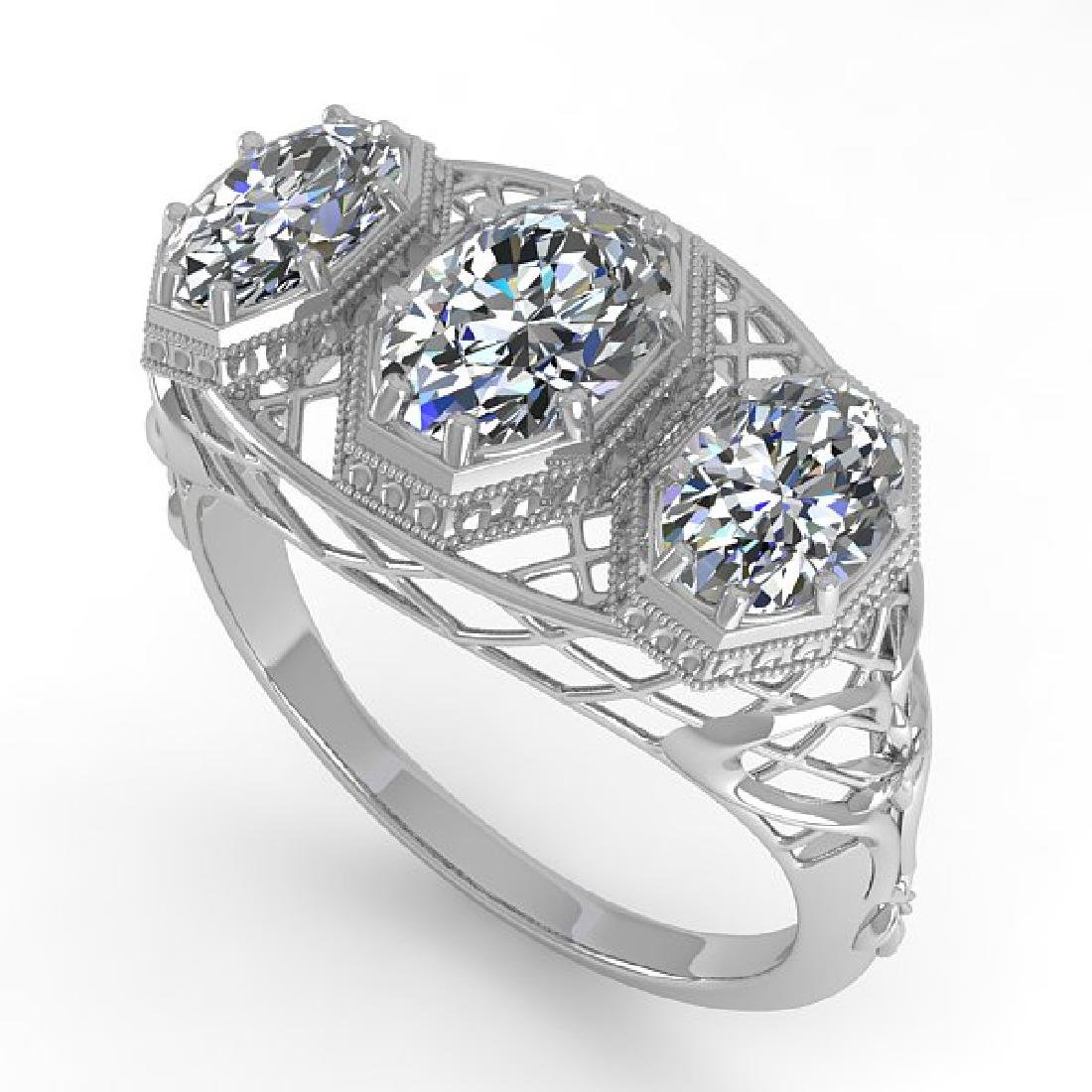2 CTW VS/SI Oval Cut Diamond Ring 14K White Gold - 2