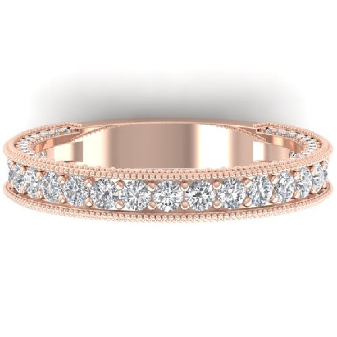 1.25 CTW VS/SI Diamond Art Deco Eternity Band Ring 18K