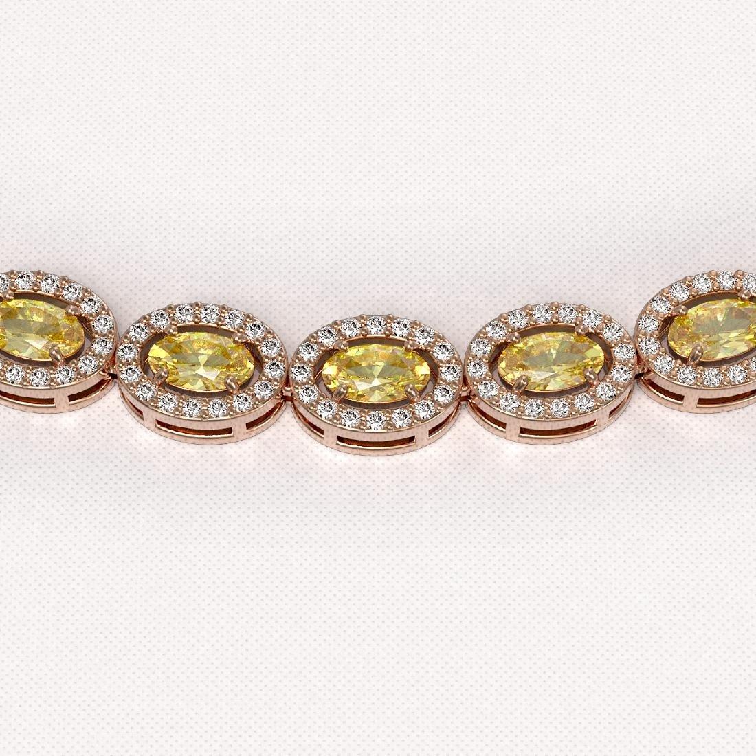 20.16 CTW Fancy Citrine & Diamond Halo Necklace 10K - 3