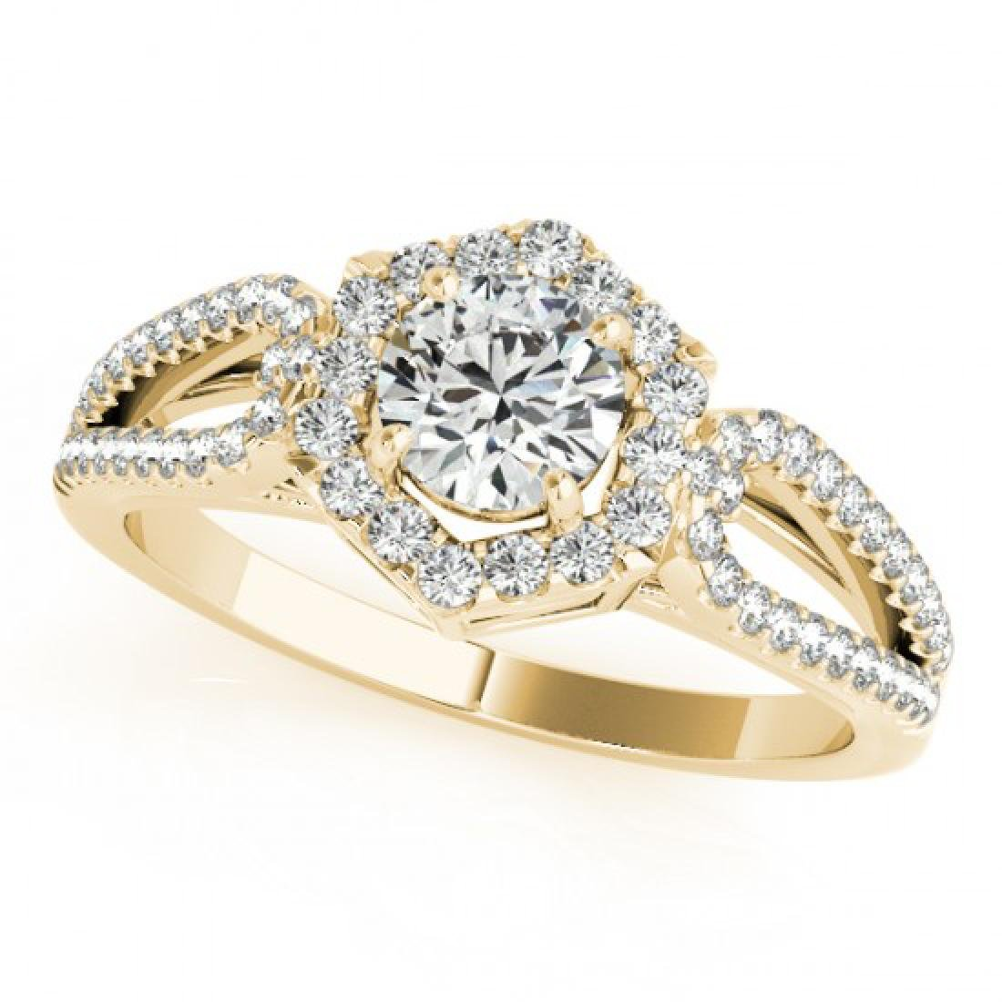 1.43 CTW Certified VS/SI Diamond Solitaire Halo Ring