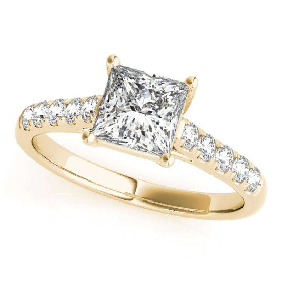1.3 CTW Certified VS/SI Princess Diamond Ring 14K