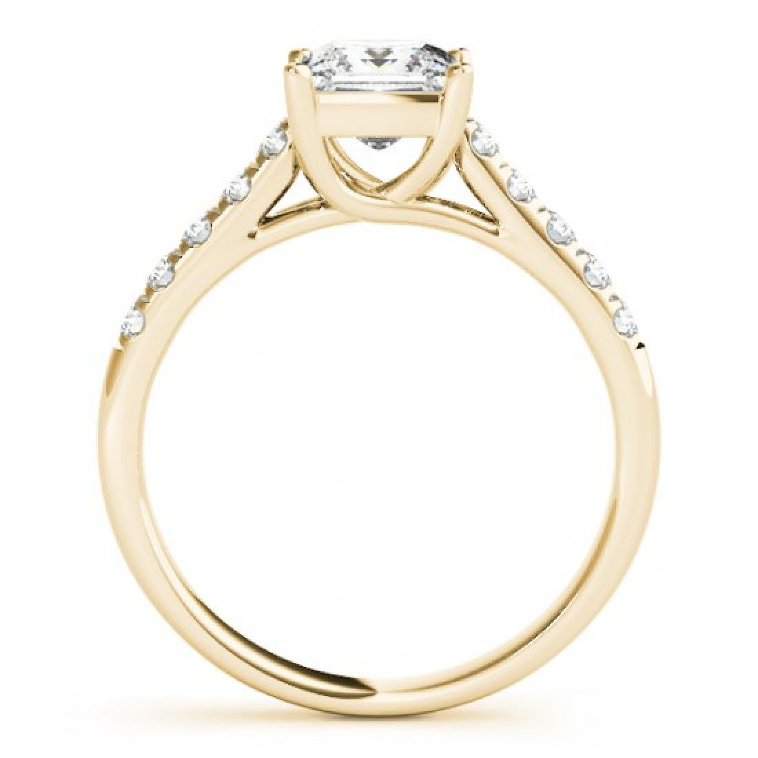 1.3 CTW Certified VS/SI Princess Diamond Ring 14K - 2