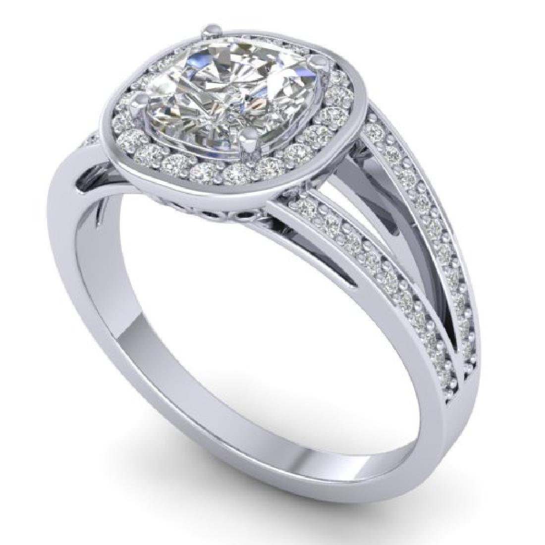 1.5 CTW Cushion Cut Certified VS/SI Diamond Art Deco - 2